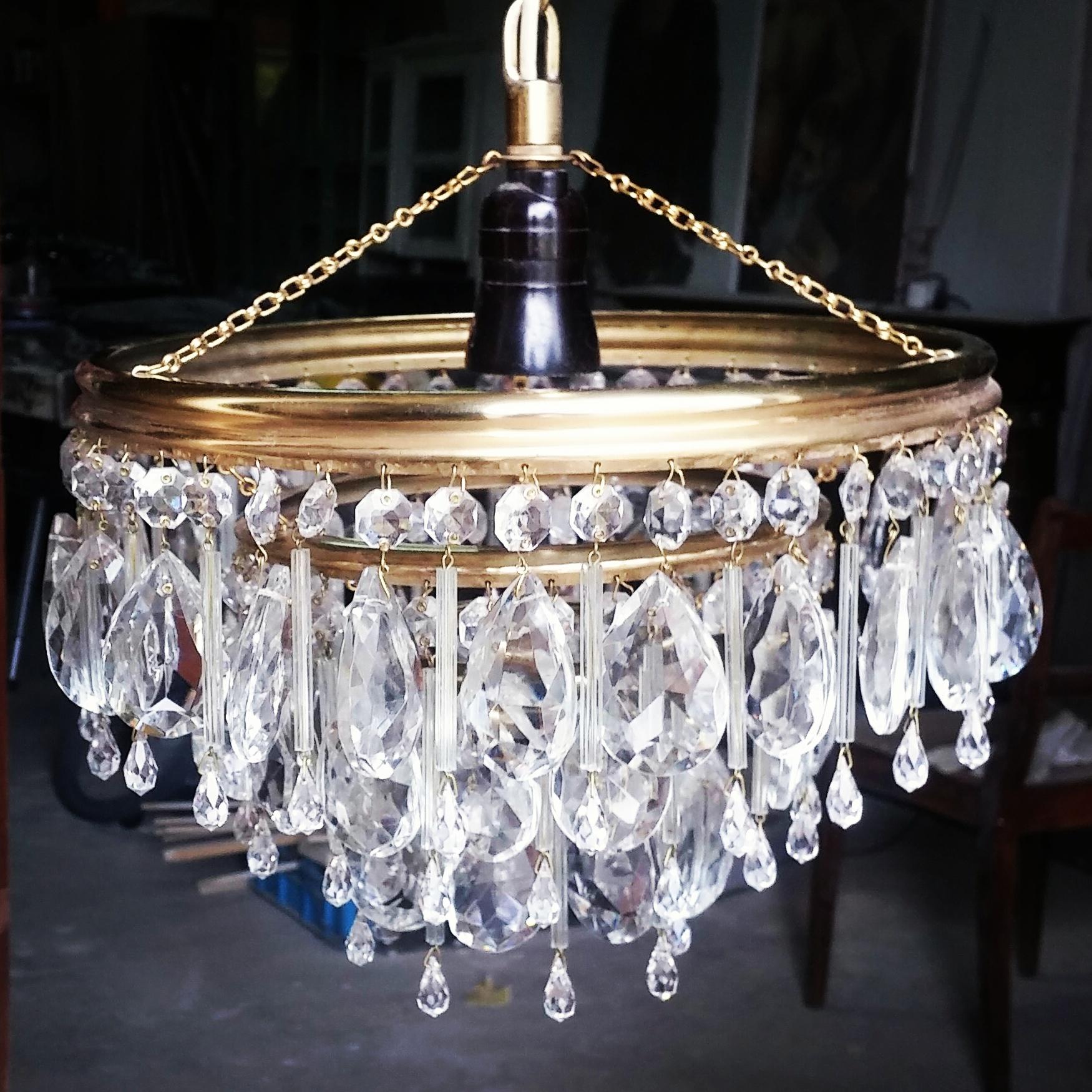 żyrandol kryształowy, antyki na sprzedaż