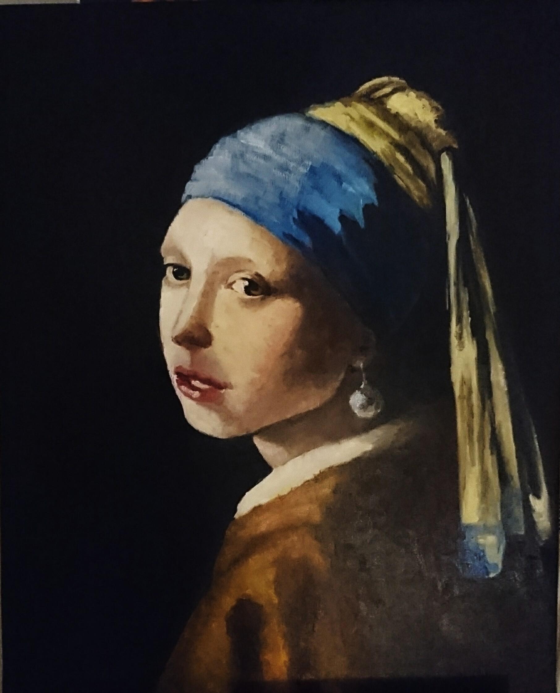 obraz na zamówienie, dziewczyna z perłą