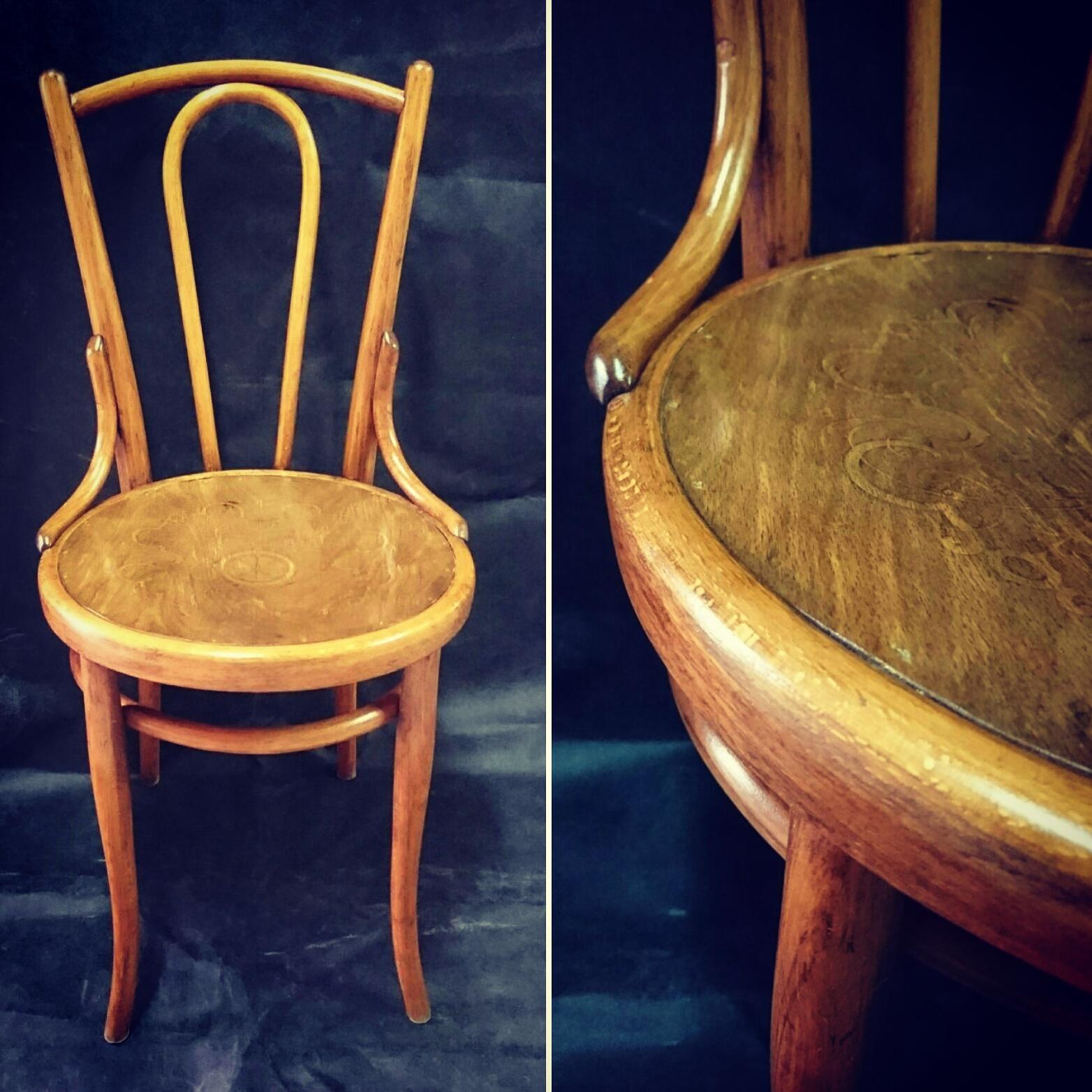 krzesło Thonet po odnowieniu, sprzedaż antyków, antyki na sprzedaż, renowacja mebli, wrocław, oława, strzelin, odnawianie mebli krok po kroku